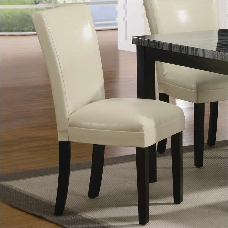cream upholstered dining chairs summer high chair booster seat coaster carter in 102264