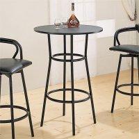 Coaster Dixie Round Metal Pub Table in Black - 2383