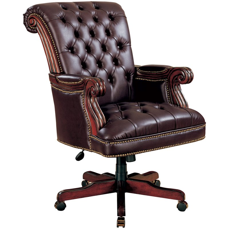fancy office chairs white for sale coaster traditional executive chair in burgundy 800142