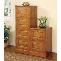 Coaster Palmetto 2 Drawer File Cabinet in Oak - 5317N