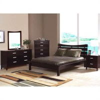 Coaster Auburn Queen Platform Bed 3 Piece Bedroom Set in