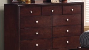 Coaster Serenity 9 Drawer Dresser In Rich Merlot And