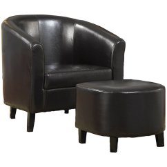 Brown Accent Chair With Ottoman Clear Ikea Coaster Faux Leather And In 900240
