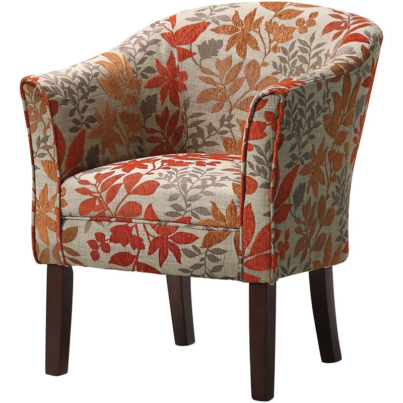 Coaster Barrel Club Chair in Autumn Floral Pattern  460407