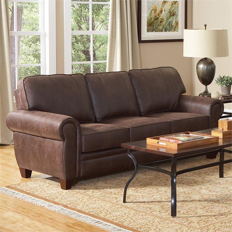 microfiber sofas todd snyder sofa coaster bentley elegant and rustic in brown 504201