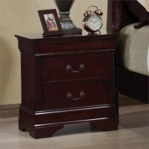 Coaster Louis Philippe Two Drawer Nightstand In Rich