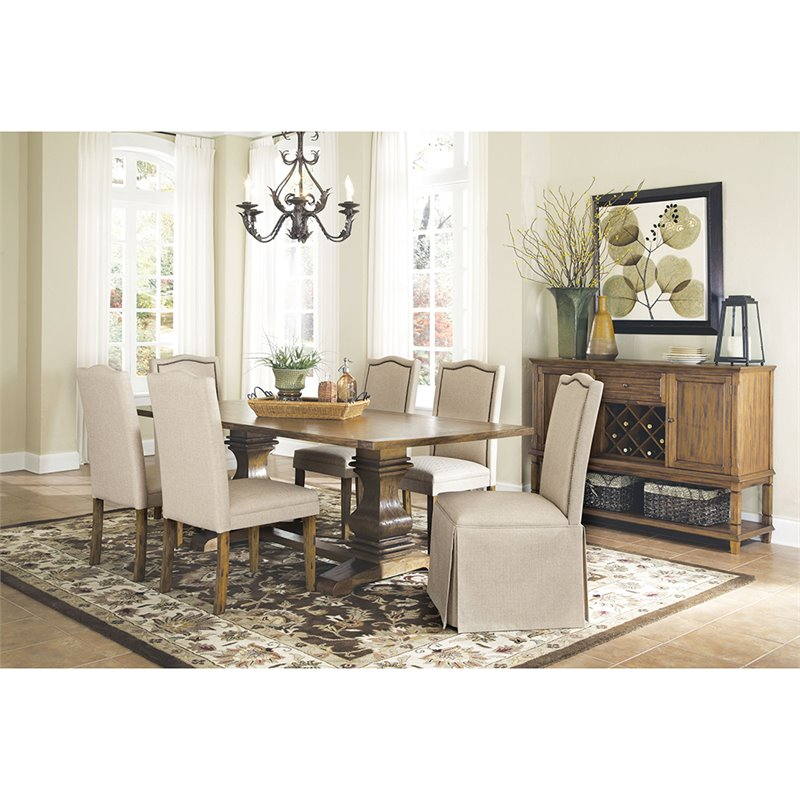 parson chairs swing chair and stand coaster parkins dining with skirt in light brown tan