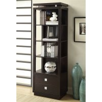 Coaster Wall Units 4 Shelf Media Tower Cappuccino Finish ...