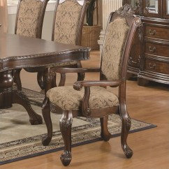 Upholstered Arm Dining Chair Swivel Clearance Coaster Andrea 103113