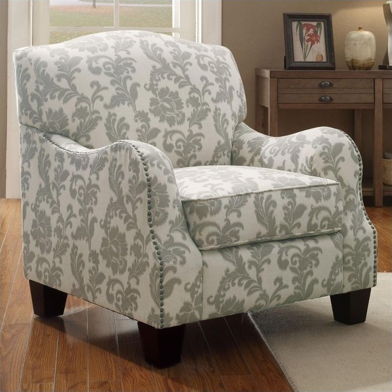 accent chairs with arms umbrella chair walmart coaster traditional cottage styled arm in gray 503253