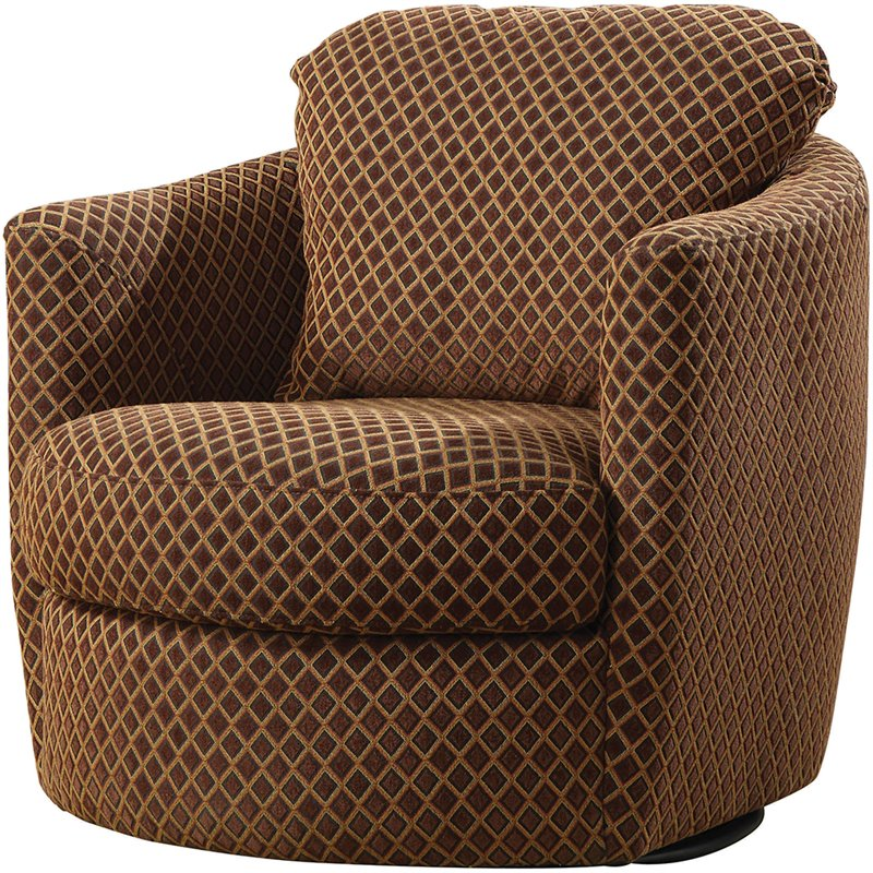 brown swivel chair steel jhula coaster diamond pattern upholstered in 900405
