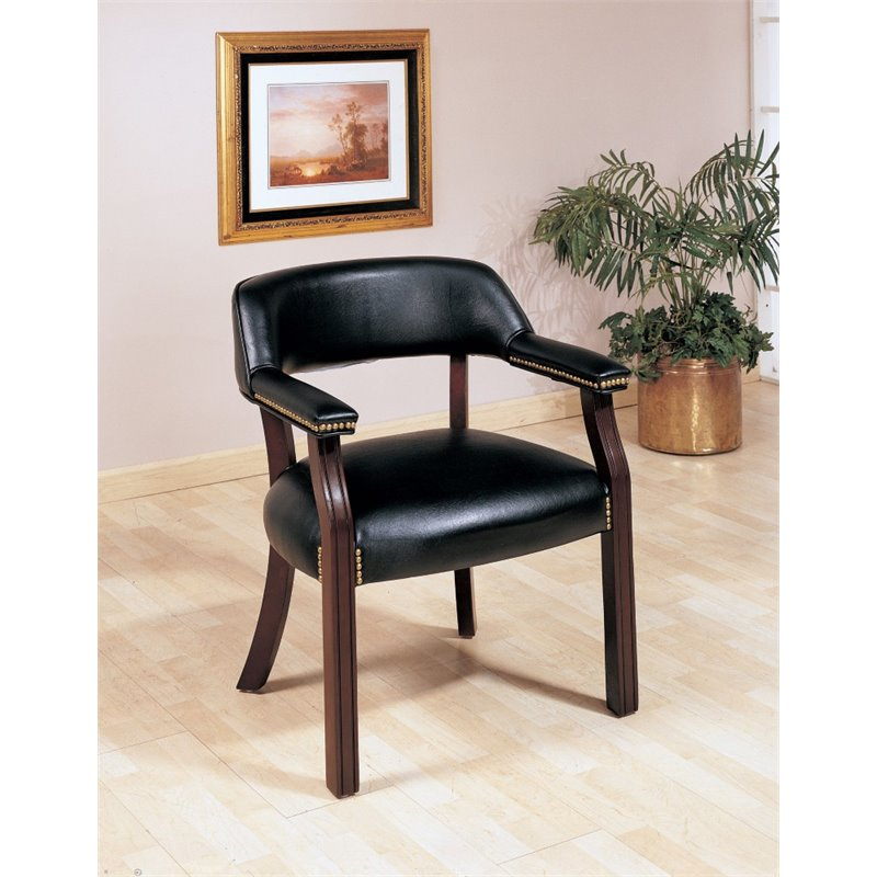 upholstered chair with nailhead trim office deals coaster guest in black 511k