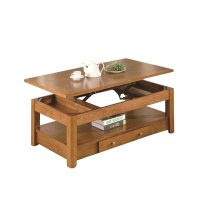 Coaster Occasional Group Lift Top Coffee Table Oak Storage ...