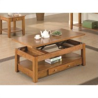 Coaster Occasional Group Lift Top Coffee Table in Oak - 701438