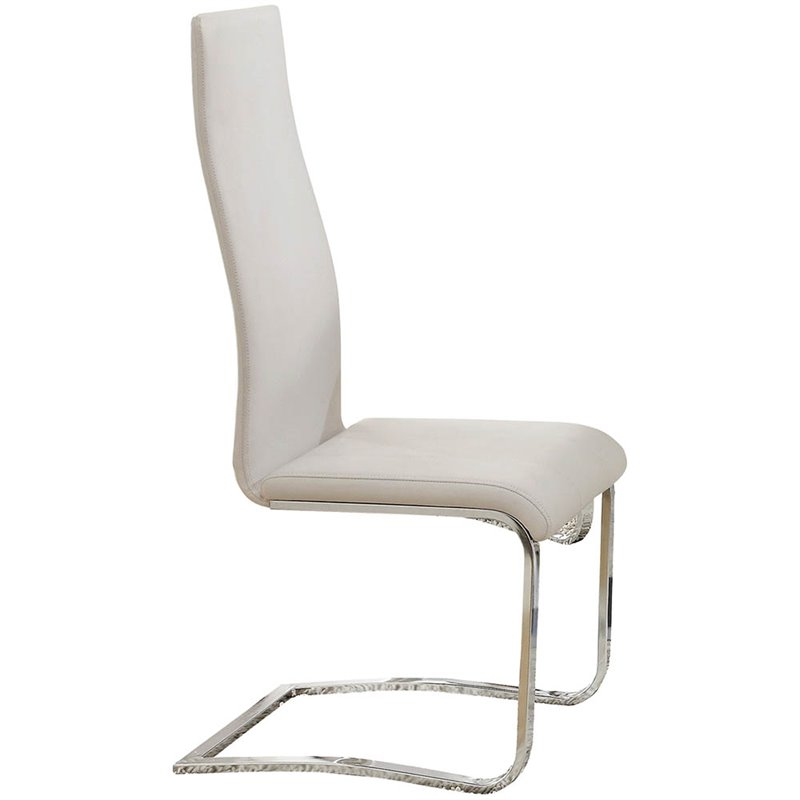 leather dining chairs modern chair gym exercise system coaster faux in white 100515wht