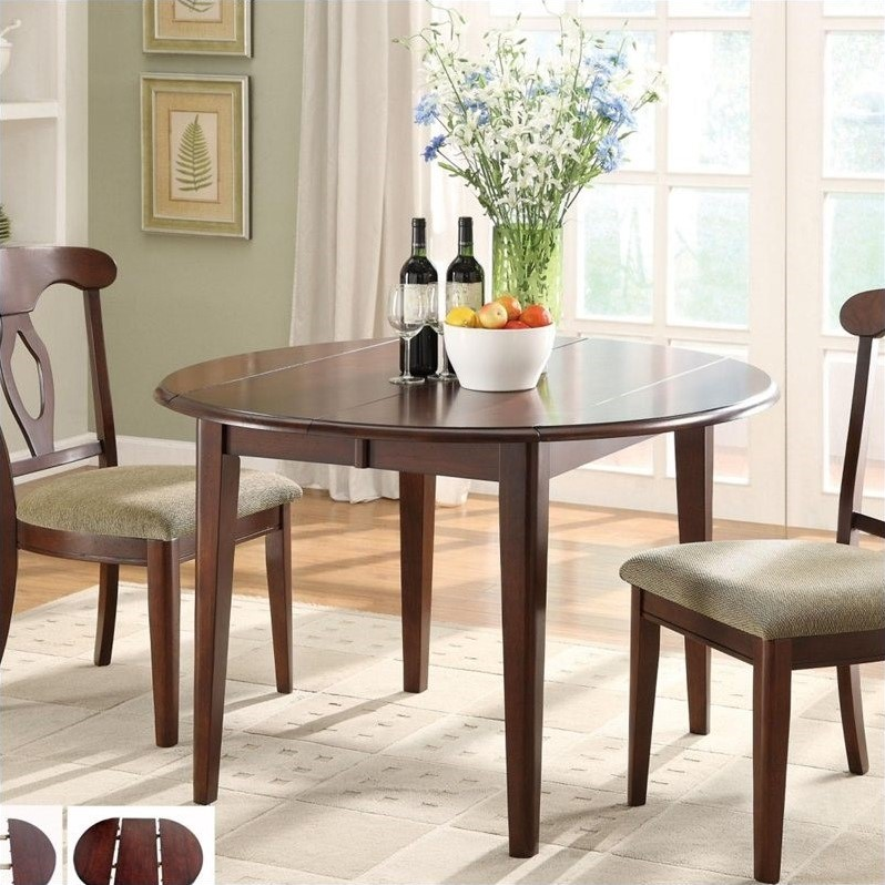 Liam Oval Top Formal Dining Table in Cherry  102991