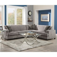 Living Room Designs With Brown Couches How To Set Up A Coaster Fabric Sleeper Sectional In Gray - 500727
