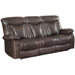 Coaster Leather Sofa Reviews Grey Chesterfield Zimmerman Faux Motion Reclining In ...