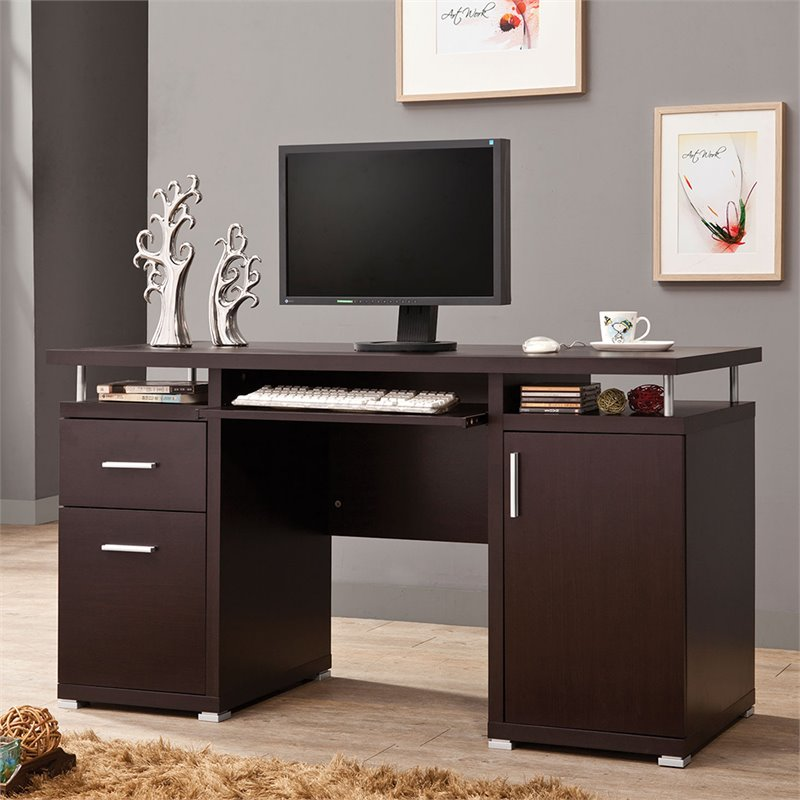 Coaster Computer Desk in Cappuccino  800107ii