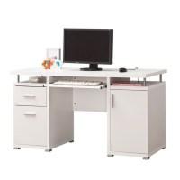 Coaster Computer Desk in White - 800108