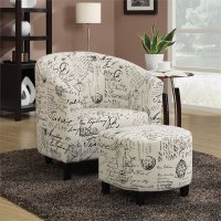 Coaster Accent Chair with Ottoman in Vintage French - 900210ii