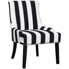 Fabric Accent Chairs Living Room Luxury Home Decor Coaster Armless Upholstered Chair In Navy And White 902188