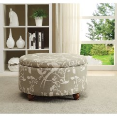 Floral Print Accent Chairs Lounge Lowes Coaster Round Storage Ottoman In Pattern - 500060