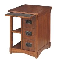 Powell Furniture Mission Oak Magazine Rack Cabinet ...