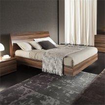 Rossetto Vela King Platform Bed In Walnut - 4306600375000