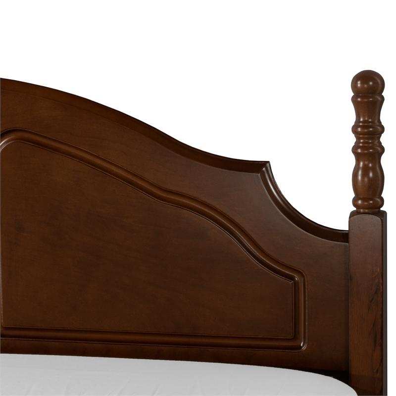 hillsdale furniture cheryl twin poster headboard in walnut