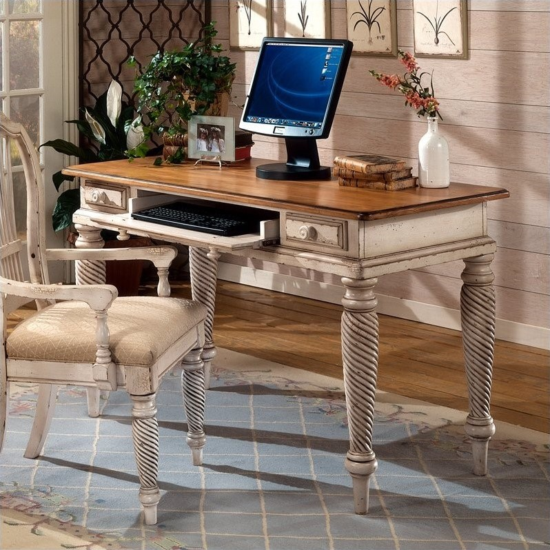 Hillsdale Wilshire Wood Writing Desk In Antique White 4508d