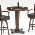 Tables hillsdale ambassador round bar height pub table in rich cherry