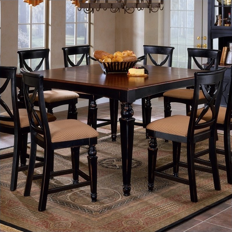 bar height outdoor chairs lowes kids sleeper chair hillsdale northern heights counter dining table in black and cherry - 4439-835w