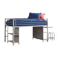 Hillsdale Universal Junior Bookcase Loft Bed with Desk and ...