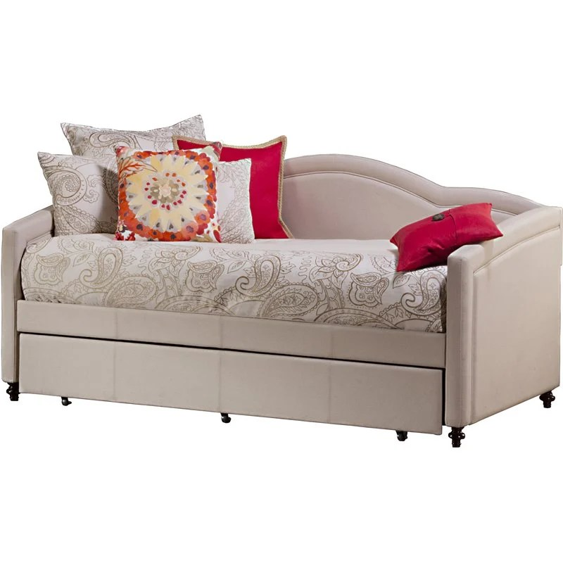 costco lounge chairs yellow dining room hillsdale jasmine daybed with trundle in linen stone - 1119dbt