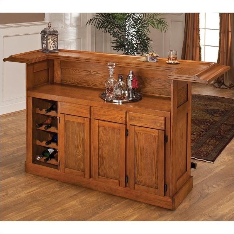 Hillsdale Classic Oak Large Home Bar Unit  62576AOAK