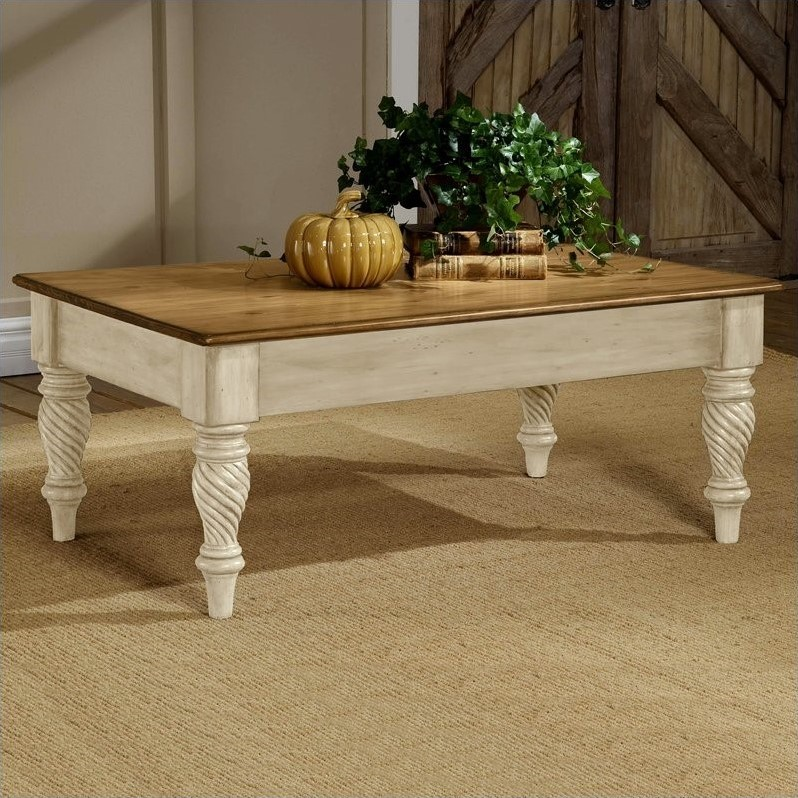 Hillsdale Wilshire Distressed Rectangular Cocktail Table
