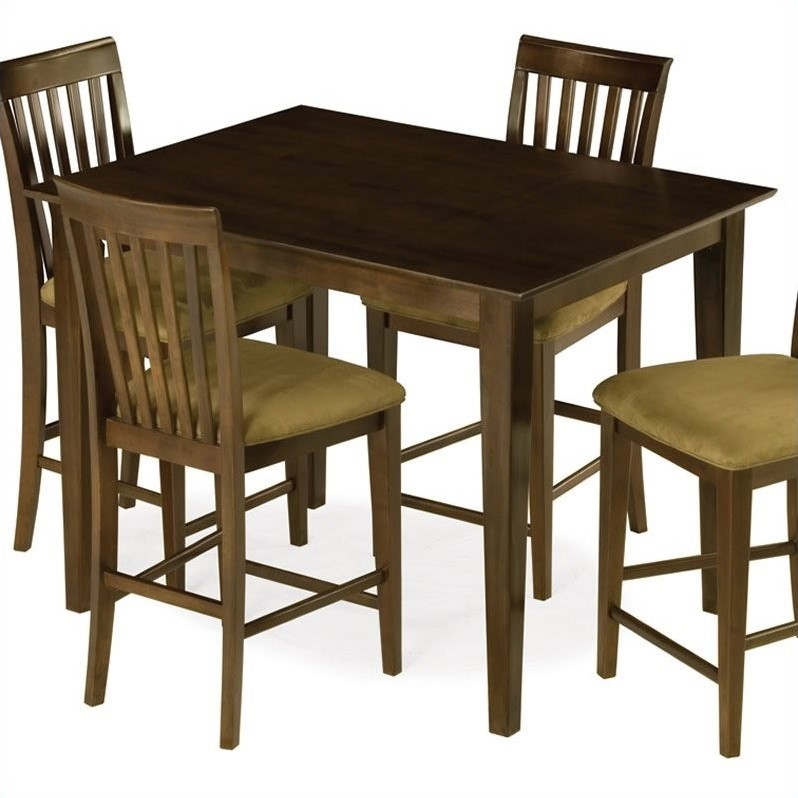 pub kitchen table eurostyle cabinets atlantic furniture shaker counter height dining in antique walnut