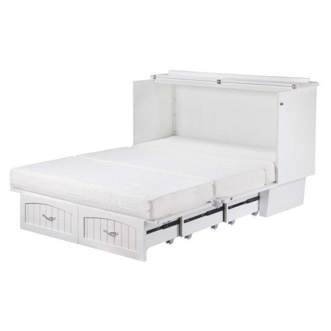 Atlantic Furniture Nantucket Queen Murphy Bed Chest In White