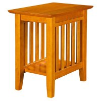 Atlantic Furniture Mission Chair Side Table in Caramel ...