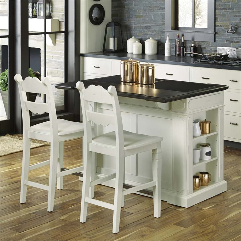 island stools for kitchen knife sheaths home styles fiesta granite top with 2 in white