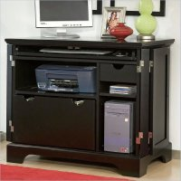 Bedford Compact Office Cabinet in Ebony - 5531-19