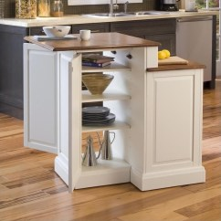 Kitchen Island Stool Distressed Black Cabinets Two Tier And Stools Set In White Oak 5010 948