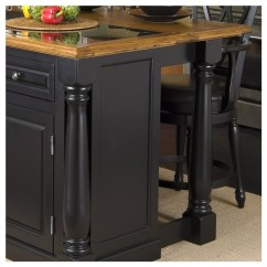 Home Styles Monarch Kitchen Island Costco Aid Roll-out Leg Granite Top In Black And Oak ...
