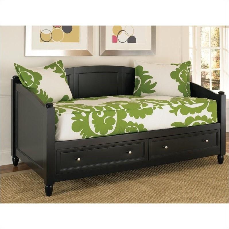 Storage Wood Daybed in Black  553185
