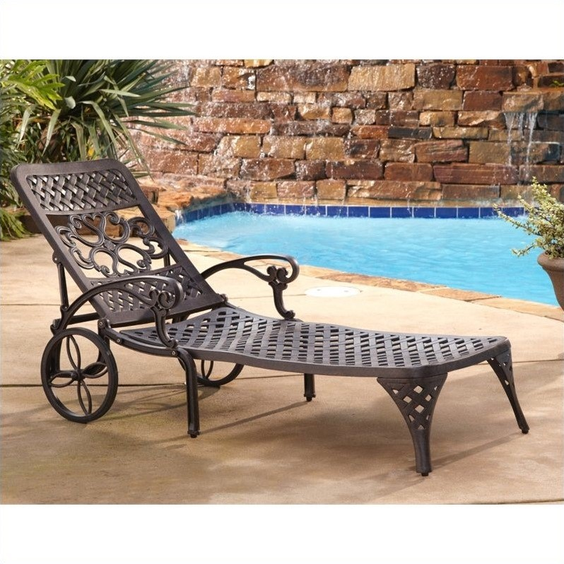 iron chaise lounge chairs dining johannesburg outdoor chair in bronze 5555 83