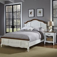 Home Styles French Countryside Bed w/Night Stand Oak ...