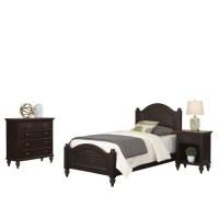 3 Piece Wood Twin Bedroom Set in Espresso - 5542-4021