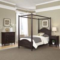 3 Piece Wood Twin Canopy Bedroom Set in Espresso - 5542-4102