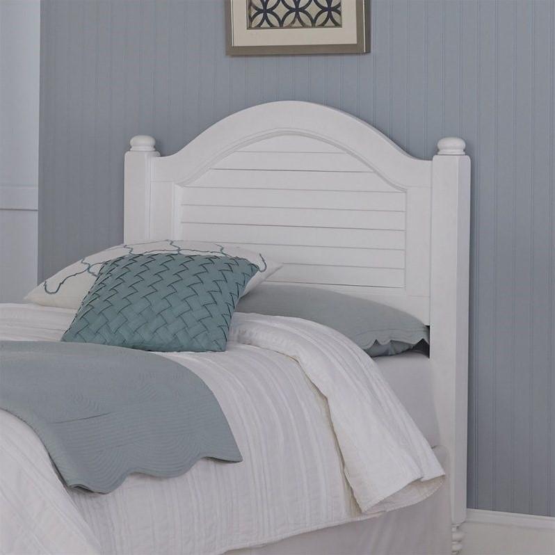 Wood Shutter Twin Headboard in White  5543401